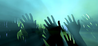 Free Audience Hands And Lights At Concert Stock Photography - 34849132