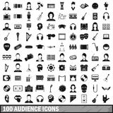 100 audience icons set, simple style. 100 audience icons set in simple style for any design vector illustration Stock Illustration