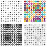 100 audience icons set vector variant. 100 audience icons set vector in 4 variant for any web design isolated on white Stock Image