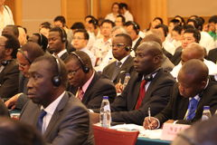 Audience of International seminar. This photo shows audience in an international seminar, which organized during China International Fair for Investment and Royalty Free Stock Photography