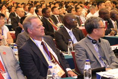 Audience of International seminar. This photo shows audience in an international seminar, which organized during China International Fair for Investment and Royalty Free Stock Images