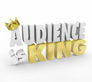 Audience is King Gold Crown Important Customers Readers Visitors Stock Images