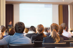 Audience in the lecture hall. Stock Images