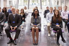Audience Listening To  Speaker At Conference Presentation Royalty Free Stock Images