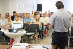 The audience listens to the acting Royalty Free Stock Photography