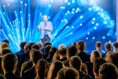 Audience listens to the lecturer Royalty Free Stock Image