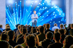 Audience listens to the lecturer Royalty Free Stock Photo