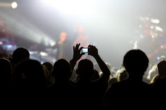 Audience at live concert Royalty Free Stock Photos