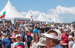 The audience in the mall Festival Rozhen in Bulgaria Stock Photo