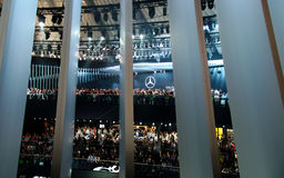 Audience in the Mercedes hall at the IAA Cars Royalty Free Stock Photography