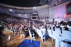 Audience and orchestra at IV Grand Festival Royalty Free Stock Photo