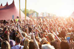 Audience At Outdoor Music Festival Stock Image
