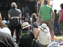 Audience at pop festival in Hyde Park,London Stock Photography