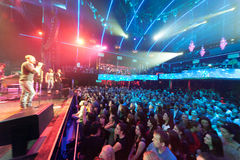 Audience is present at unique solo concert of Emin Agalarov Royalty Free Stock Photos