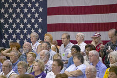 Audience of retired persons at Senator John Kerry campaign rally, Valley View Rec Center, Henderson, NV Stock Image