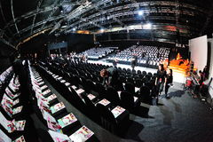 Audience seating gallery at Audi Fashion Festival 2012 Stock Images