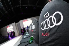 Audience seats beside the runway at Audi Fashion Festival 2012 Royalty Free Stock Images