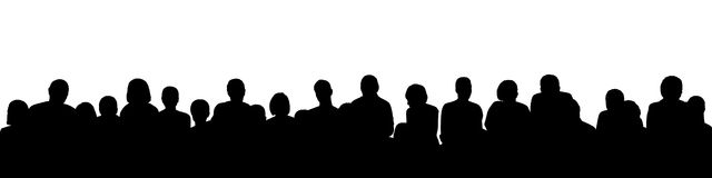 Audience silhouette 1 Royalty Free Stock Image
