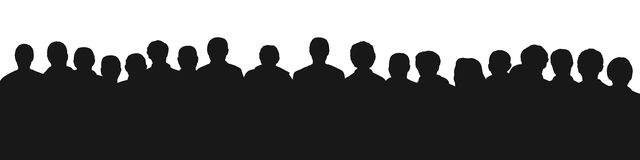 Audience silhouette 2 Royalty Free Stock Images