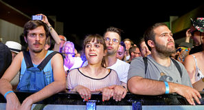 Audience at Sonar Festival Stock Image