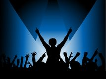 Audience in spotlight Royalty Free Stock Photo