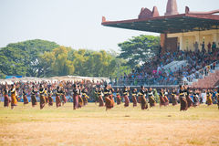 Audience Surin Dancers Field Stock Image