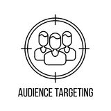 Audience targeting icon or logo Royalty Free Stock Photo
