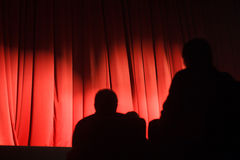 Audience in theater waiting for play to start Royalty Free Stock Photography