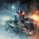 Audience with the titan Vector Illustration