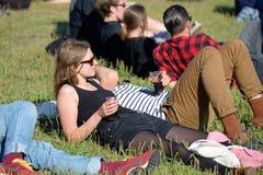Audience watch a concert at Heineken Primavera Sound 2014 Royalty Free Stock Photo