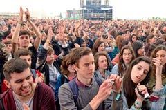 Audience watch a concert at Heineken Primavera Sound 2014 Festival Stock Images