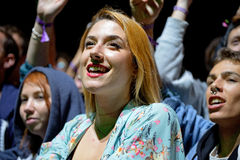 Audience watch a concert at Heineken Primavera Sound 2014 Festival Stock Photos