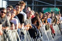 Audience watch a concert at Heineken Primavera Sound 2014 Festival. BARCELONA - MAY 30: Audience watch a concert at Heineken Primavera Sound 2014 Festival (PS14 stock photos