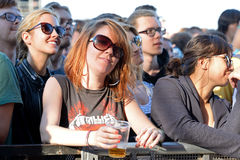 Audience watches a concert at Heineken Primavera Sound 2014 Festival. BARCELONA - MAY 30: Audience watches a concert at Heineken Primavera Sound 2014 Festival ( stock photography