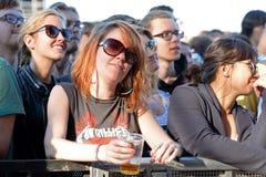 Audience watches a concert at Heineken Primavera Sound 2014 Festival Stock Photography