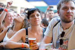 Audience watches a concert at Heineken Primavera Sound 2014 Festival. BARCELONA - MAY 30: Audience watches a concert at Heineken Primavera Sound 2014 Festival ( stock images