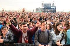 Audience watches a concert at Heineken Primavera Sound 2014 Festival Stock Photo