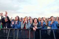 Audience watching a concert at Heineken Primavera Sound 2014 Festival Stock Photo