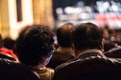 Audience watching concert show in the theater.  Stock Image
