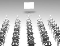 Audience watching presentation 3d illustration Royalty Free Stock Image