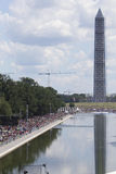 Audiences on the National Mall listen to Presidential speeches Stock Images