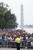 Audiences on the National Mall Royalty Free Stock Photography