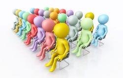 Audiencia con las figuras 3D stock de ilustración