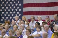 Audiencia de personas jubiladas en la reunión de la campaña de senador John Kerry, centro del Rec de la opinión del valle, Hender Imagen de archivo