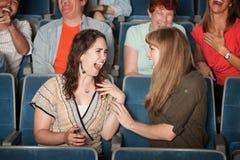 Audiencia de risa fotografía de archivo