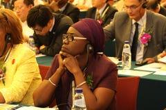 Audiencia de seminario internacional Imágenes de archivo libres de regalías