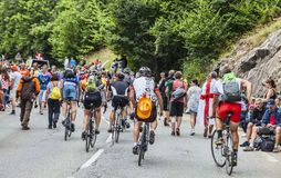 Audiencia de Tour de France del Le Imagen de archivo libre de regalías