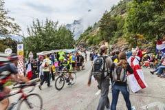 Audiencia de Tour de France del Le Imagenes de archivo