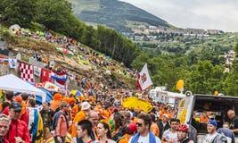 Audiencia de Tour de France del Le Imagen de archivo