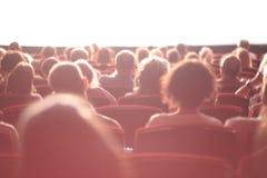 Audiencia del cine Imagenes de archivo